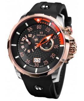 Seculus 4505.3.422 black-orange, ss-r, black silicon