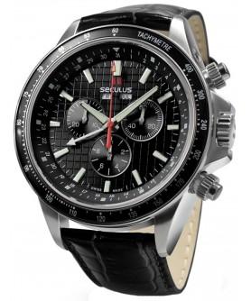 Seculus 9531.2.504 black, ss, black leather