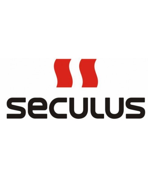 Seculus 4487.2.715 white, ss tp-b red tracks, black red leather