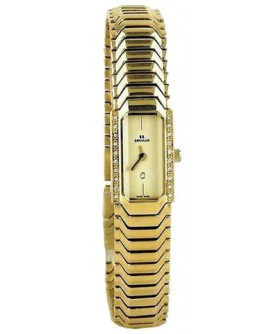 Seculus 1634.2.732 pvd with stones case, yellow dial, pvd bracelet