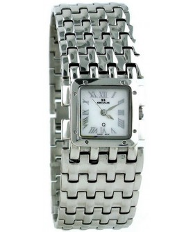 Seculus 1644.2.763 ss case, white mop dial, ss bracelet
