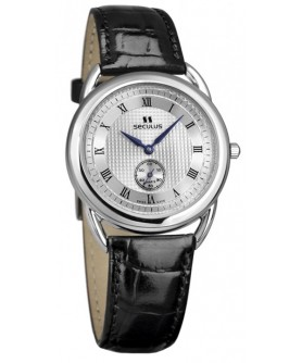 Seculus 1653.2.106 ss case, white dial, black leather