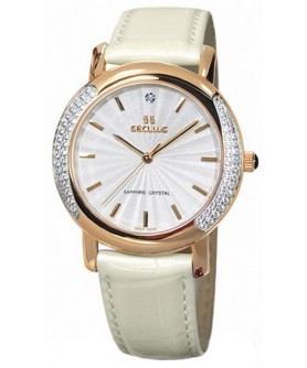 Seculus 1673.2.1063 mop, pvd-r-cz, pearl leather