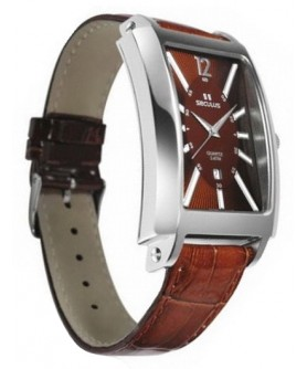 Seculus 4476.1.505 ss case, brown dial, brown leather